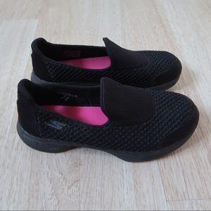 Skechers Black go walk slip on shoes